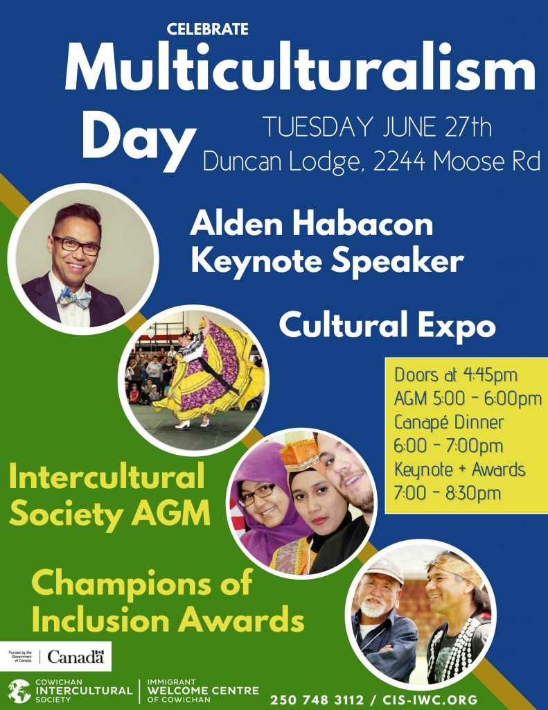 Multiculturalism Day Celebration & AGM @ Duncan Lodge | Duncan | British Columbia | Canada
