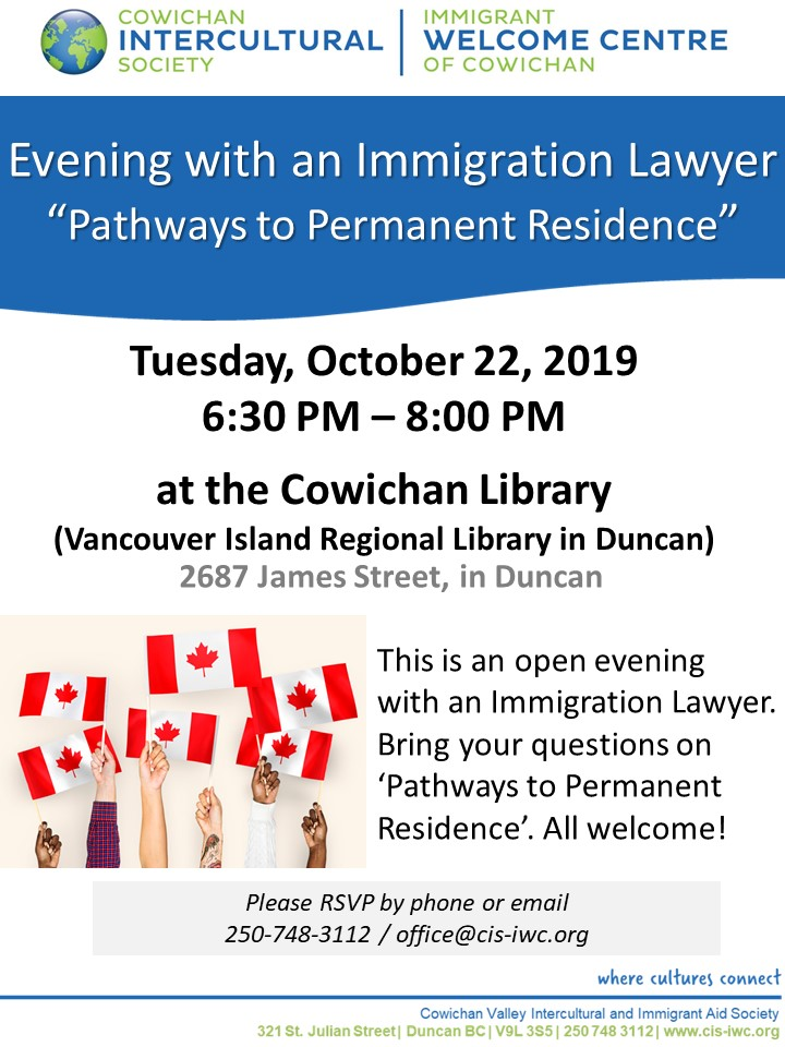 Immigration Lawyer Presentation @ Cowichan Library